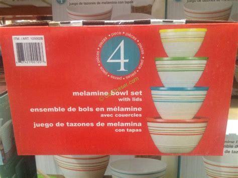 melamine mixing bowls set  lids costcochaser