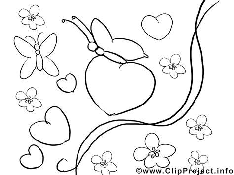Schmetterlinge Valentinstag Ausmalbilder Für Kinder