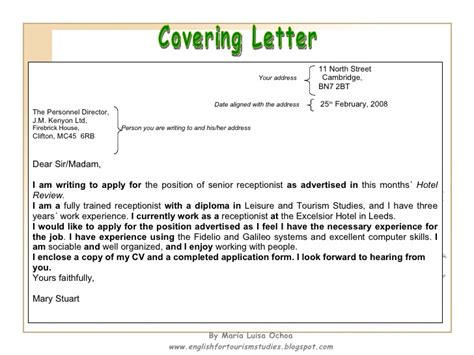 write  cv   covering letter