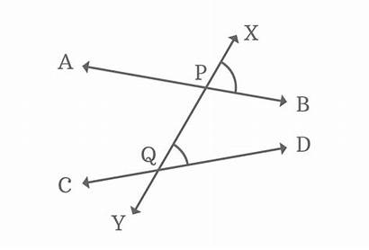 Angles Corresponding Transversal Lines Formed Angle Nonparallel
