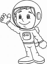 Astronaut Coloring Boy Astronauts Printable Wecoloringpage Space Helmet Ioioio Template Club sketch template