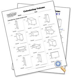calculating volume worksheetworks com math geometry