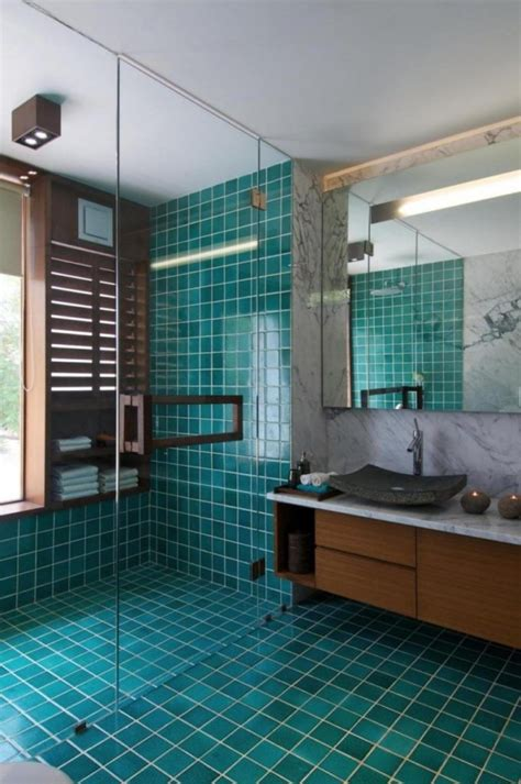 Teal Bathroom Tile Ideas by Teal Bathroom Tiles Home Decorating Trends Homedit