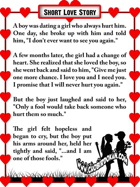 Cute Short Love Story Short Stories About Love