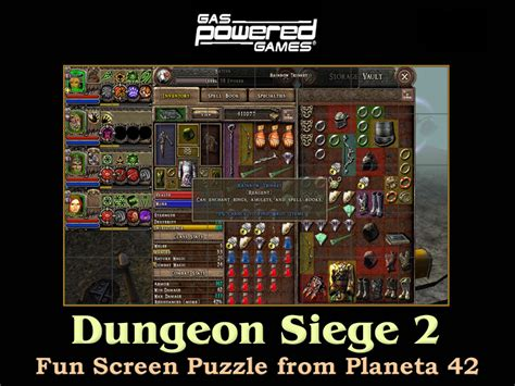 similar to dungeon siege dungeon siege 2 screen puzzle