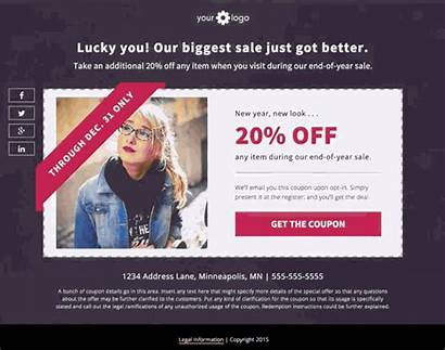 Coupon Template Coupons Leadpages Landing Leads Templates