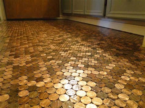 tile patterns for kitchen backsplash floor made of pennies is priceless houston chronicle