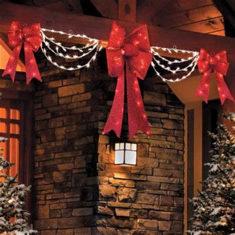Lighted  Ee  Christmas Ee   Bows Happy Holidays