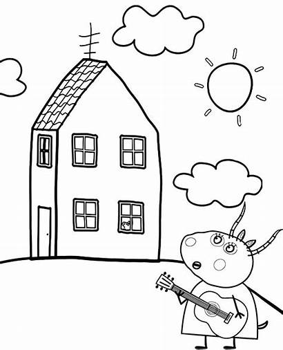 Coloring Peppa Pig Pages Gazelle Printable Madame