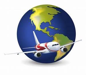 Globe Terrestre Carton : earth globe and airplane vector free download ~ Teatrodelosmanantiales.com Idées de Décoration