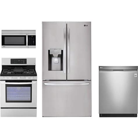 kitchen appliance package lg 4 gas kitchen package
