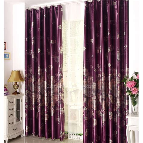 purple patterned curtains decorative floral pattern thick insulated purple curtains