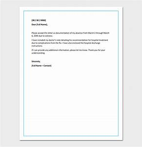 Apology Letter for Absence from Work Due to Illness  Sample Letter