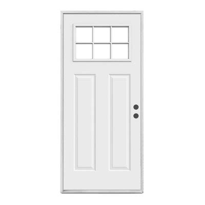 lowes craftsman door reliabilt craftsman 6 lite inswing steel entry door lowe