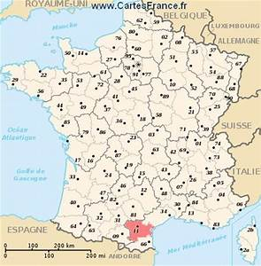 AUDE : Carte plan departement de l' Aude 11