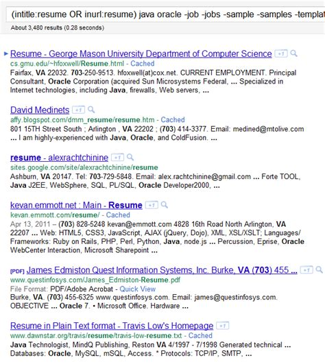 Search Resumes For Free by Resume Boolean Search Exle Results By Zip Code