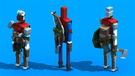 random  poly characters  behance