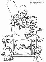 Coloring Simpson Simpsons Marge Printable Lisa Bart Adult Homer Cool Maggie Sheets Hellokids Adults sketch template