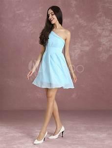 Robe Bleu Demoiselle D Honneur : robe soutenue demoiselle d 39 honneur a ligne chiffon bleu d 39 eau ~ Dallasstarsshop.com Idées de Décoration