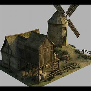 Medieval Windmill - Extended License 3D Models Extended ...