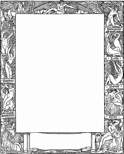 Greek Myth Clipart Mythology Frame Transparent Clip