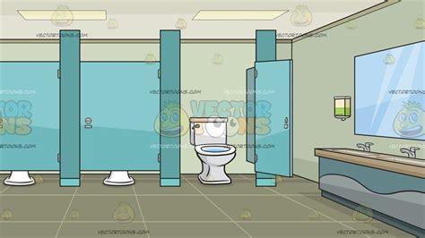 public bathroom  cubicles background clipart