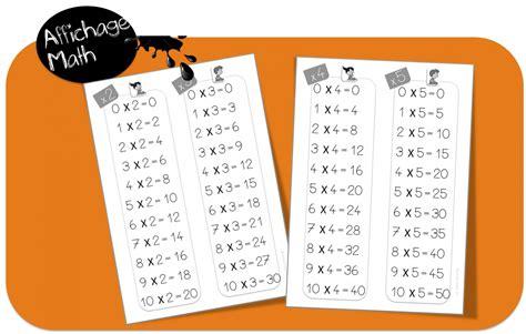 affichage table de multiplication affichages maths cp ce1 bout de gomme