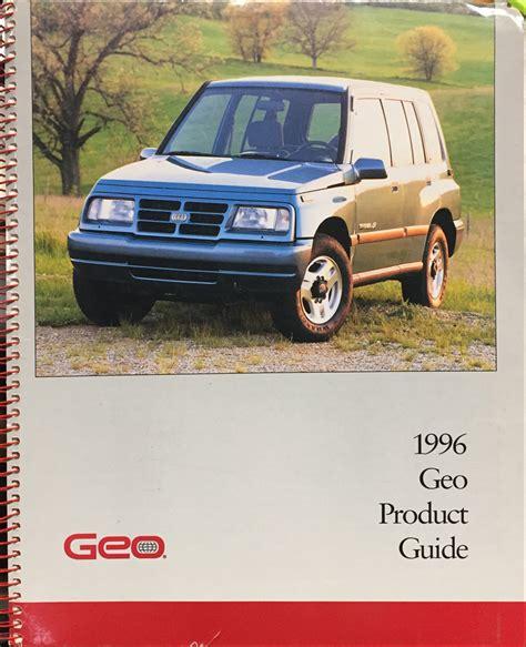 free car repair manuals 1996 geo metro user handbook 1996 geo metro repair shop manual original 2 volume set