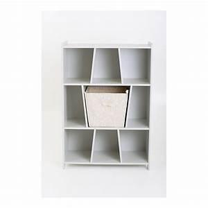 Etagere Avec Panier : biblioth que blanc lait avec panier birbblcm13 ~ Teatrodelosmanantiales.com Idées de Décoration