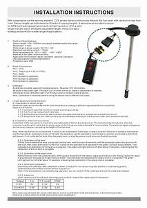 Capacitive Fuel Sensor Specification And Manual