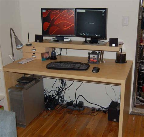 justins  tier computer desk ikea hackers ikea hackers
