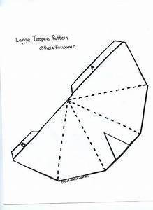 Teepee pattern for the kids pinterest for Teepee craft template