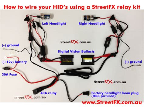 Hid Kit Wiring Diagram by Hid Relay Wiring Loom Harness Conversion Kit H1 H3 H7