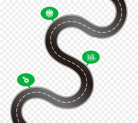 road map infographic clip art curved road map vector