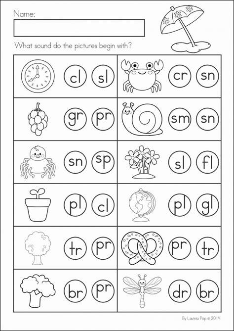 beginning blends review worksheets worksheets