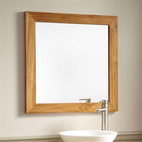 inspirations natural wood framed mirrors mirror ideas