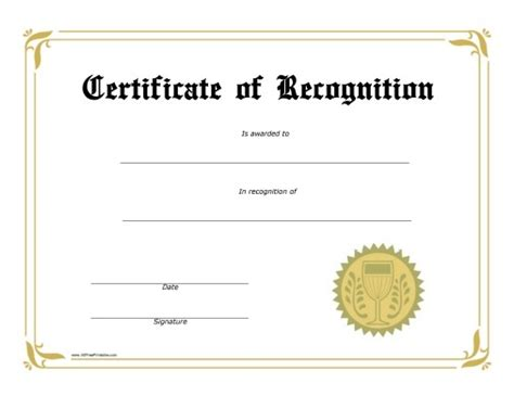 certificates  recognition  printable