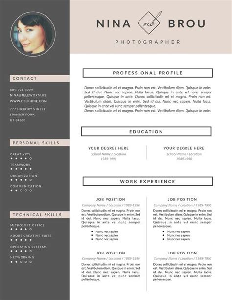 creative resume template  cover letter template