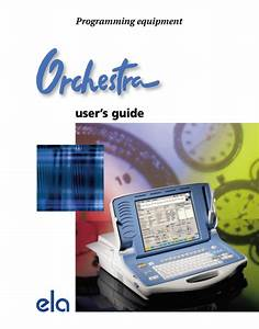 Ela Medical Orchestra Users Guide Pdf Download