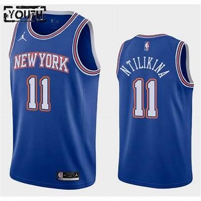 Knicks York Statement Edition Jordan Ntilikina Frank