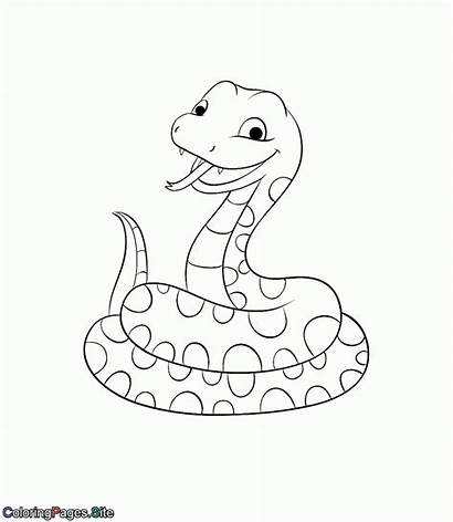 Coloring Snake Pages Animals Friends Coloringpages Site