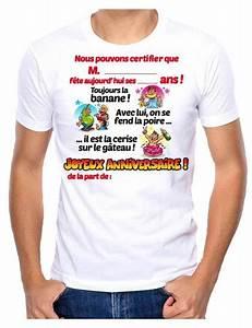 T Shirt 40 Ans : t shirt homme humour anniversaire signer avec feutre mister fiesta ~ Farleysfitness.com Idées de Décoration