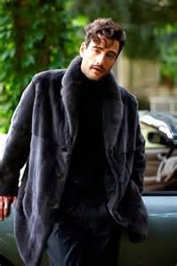 Mink Fur Coat Jacket Men