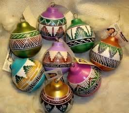 colorful southwest navajo etchware christmas ornament