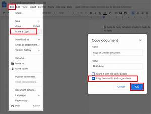 Google Docs - Copy And Paste Text With Comments