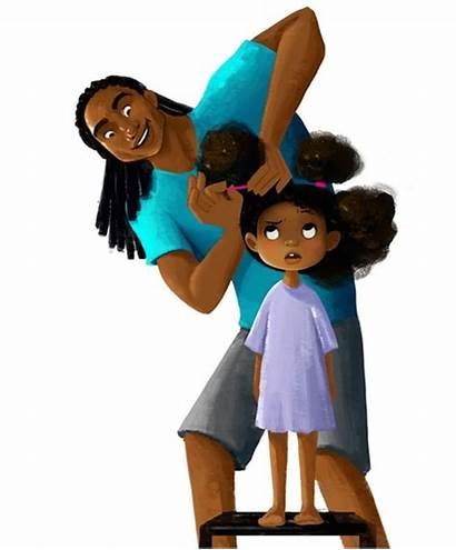 Hair Daughter Animated Dad Short Natural Film
