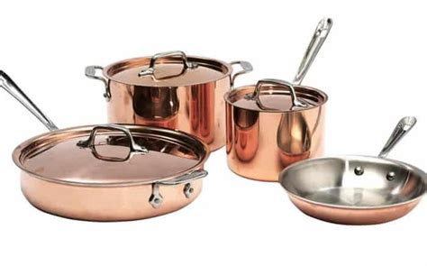 steel aluminum  copper cookware