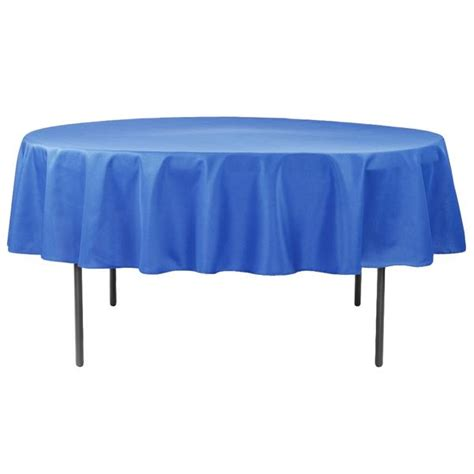 "Economy Polyester Tablecloth 90"" Round Royal Blue CV Linens"