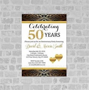 50th wedding anniversary invitations wedding invitation With wedding anniversary invitation template online