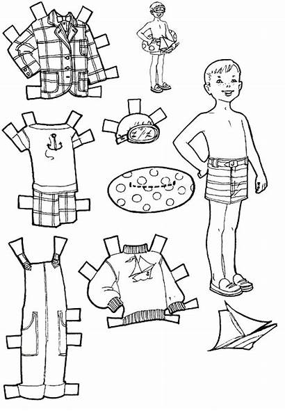 Paper Dolls Coloring Pages Cut Doll Printable